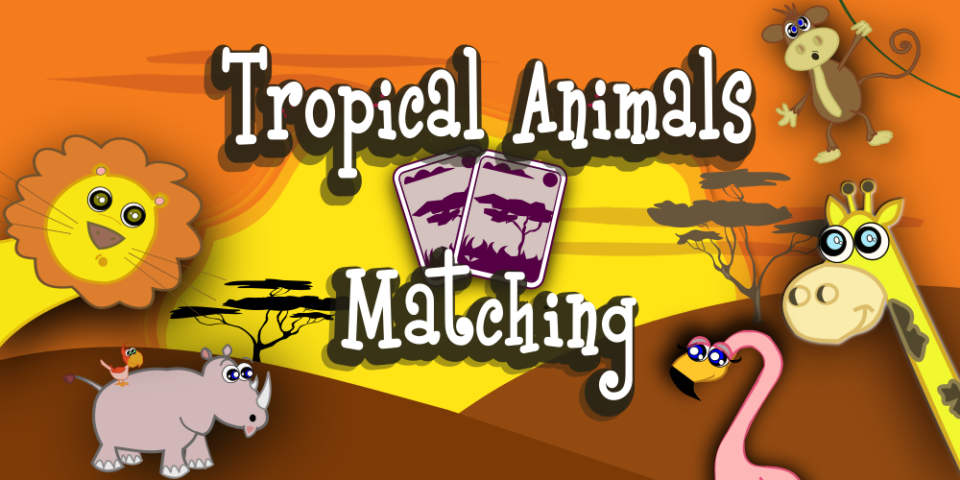 Tropical Animals Matching