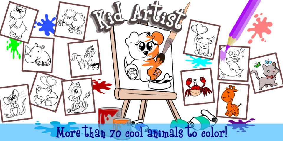 Kid Artist – Animals Coloring